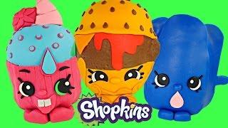 SHOPKINS GIANT PLAY DOH SURPRISE EGGS | 3 EGGS Surprise Toys Videos For Kids