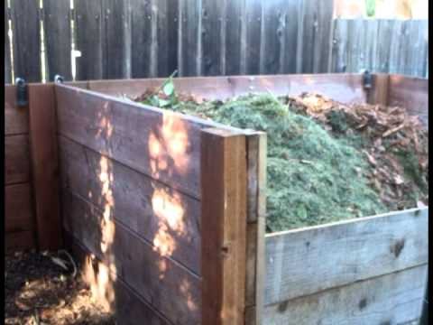 how to make a compost bin youtube. Black Bedroom Furniture Sets. Home Design Ideas