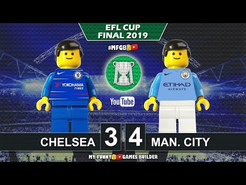 Chelsea vs Manchester City 0−0 (3-4) Penalty Kicks • Final Carabao Cup 2019 parody in Lego Football