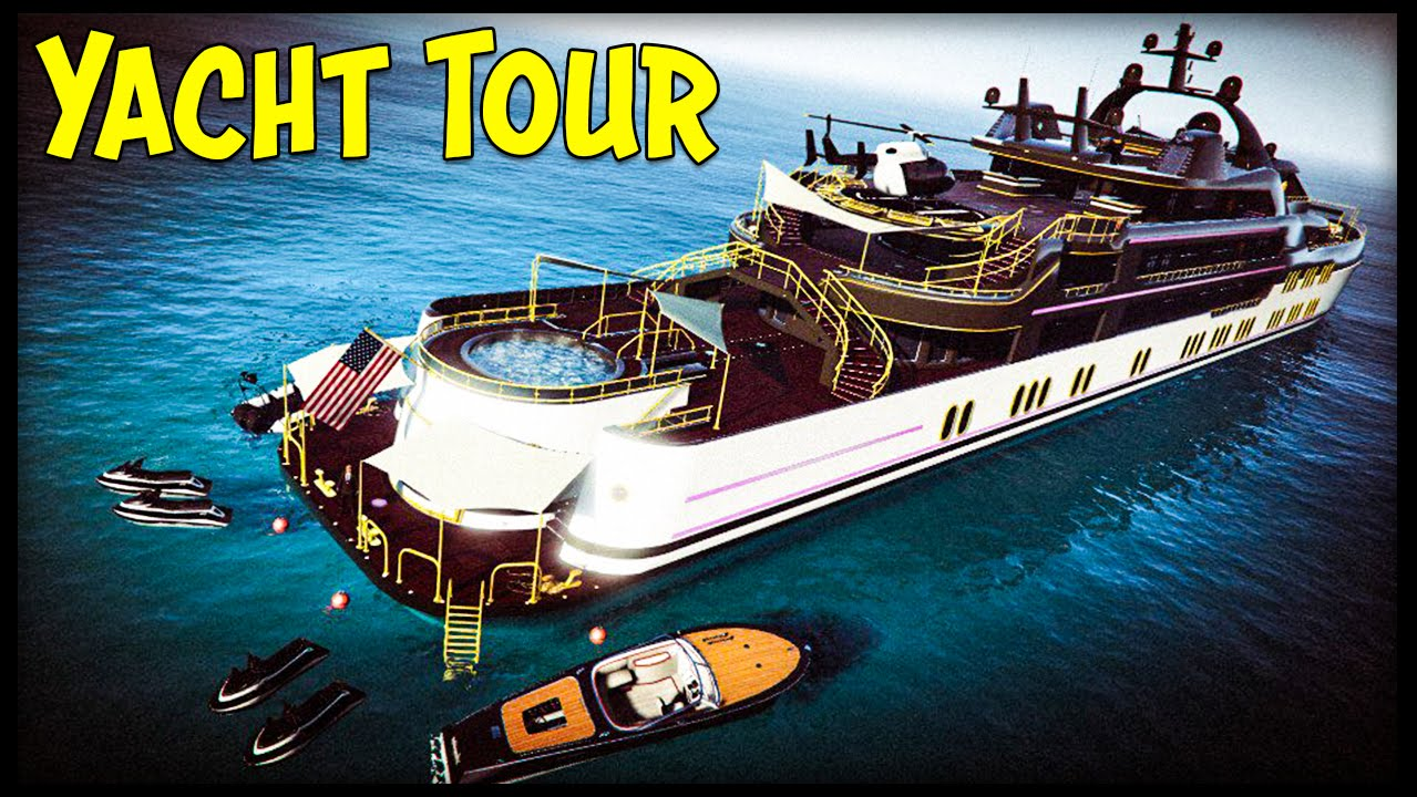 GTA 5 10000000 YACHT TOUR All 3 Yachts Customization