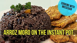 ARROZ MORO CUBANO  MOROS Y CRISTIANOS  BLACK BEANS AND RICE ON INSTANT POT COOKING W MISSCUAN