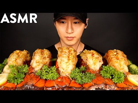 ASMR LOBSTER TAILS MUKBANG (THANK YOU FOR 3 MILLION!) COOKING & EATING SOUNDS   Zach Choi ASMR