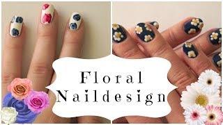 Cute Floral nailart - Daisy and Rose naildesign Thumbnail