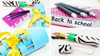 BACK TO SCHOOL - DIY Mäppchen, Pencil Case & Glitter Stifte