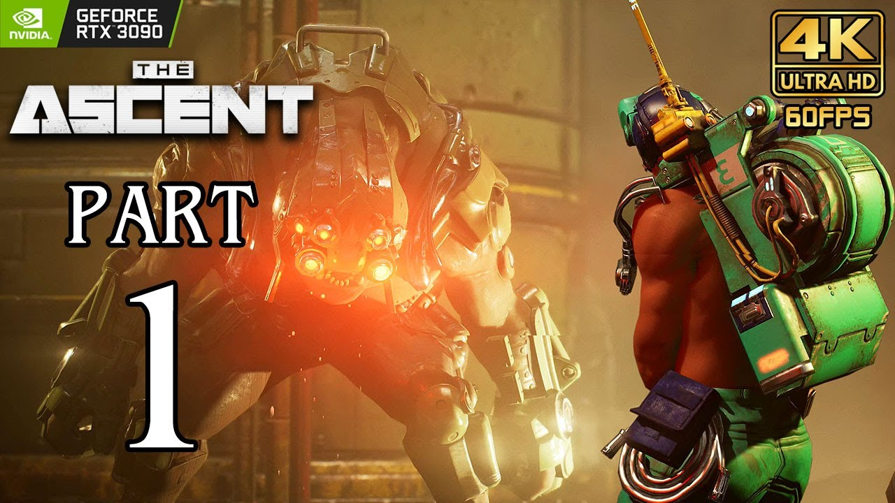 THE ASCENT Walkthrough PART 1 (PC) Gameplay No Commentary @ 4K 60ᶠᵖˢ ✔