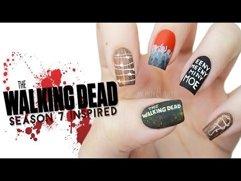 The Walking Dead Season 7 Inspired Nail Art | FINGER FEAR FRIDAY