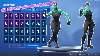 ALL EMOTES ON GHOUL TROOPER!