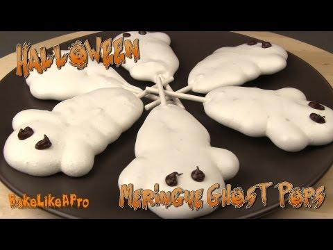 Halloween Meringue Ghost Pops Recipe