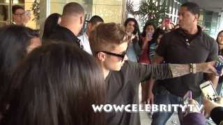 Justin Bieber arrives to fans at power 106 LA Radio station