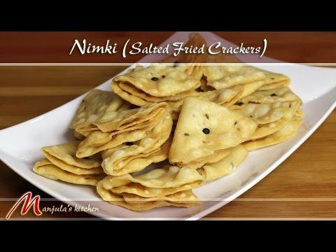 Nimki - Salted Fried Crackers Recipe by Manjula