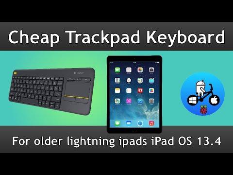 Trackpad/ Keyboard For Older IPads Running IPad OS 13.4