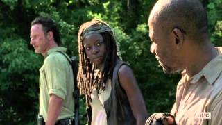 the walking dead did Michonne take Morgan