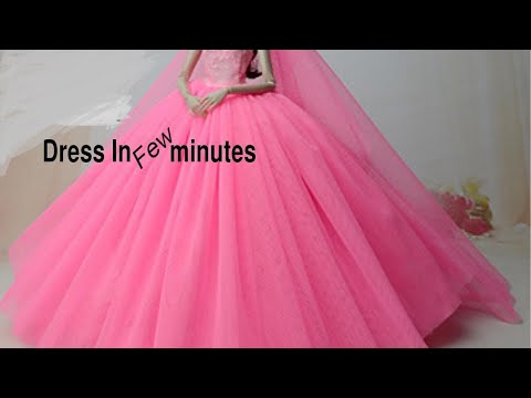 👗 DIY Barbie Dresses  Making Easy No Sew Clothes for Barbies Creative Fun for Kids