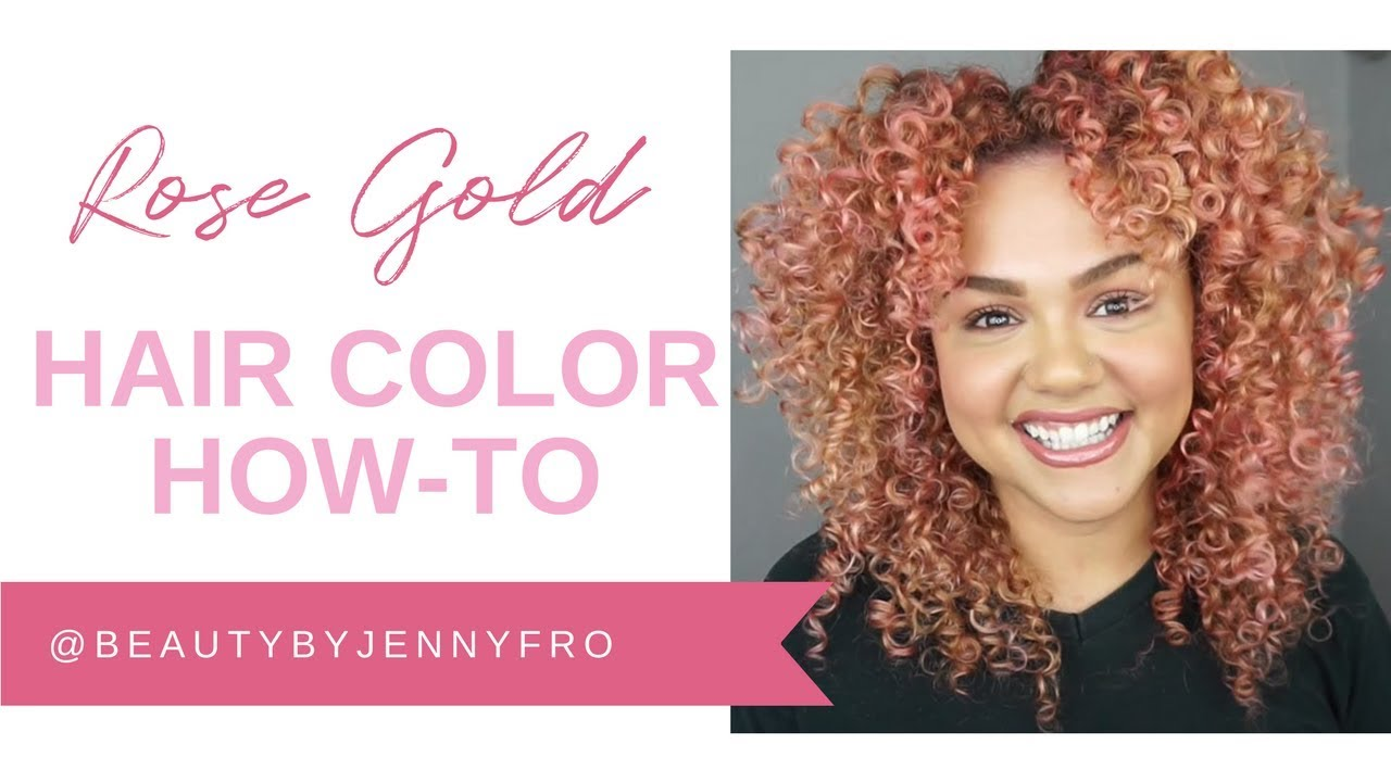 How To Rose Gold Hair Color Using Wella Color Charm Paints Youtube