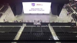 Review of Upper level,front row, half court seats Golden 1 Center