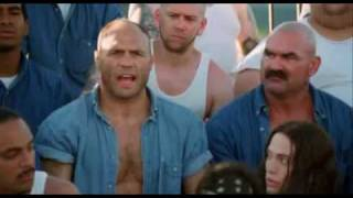 Randy Couture prison scene in Big Stan movie