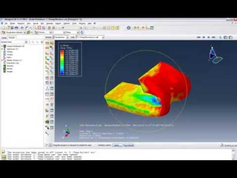 Abaqus : flexion of metal box with self-contact