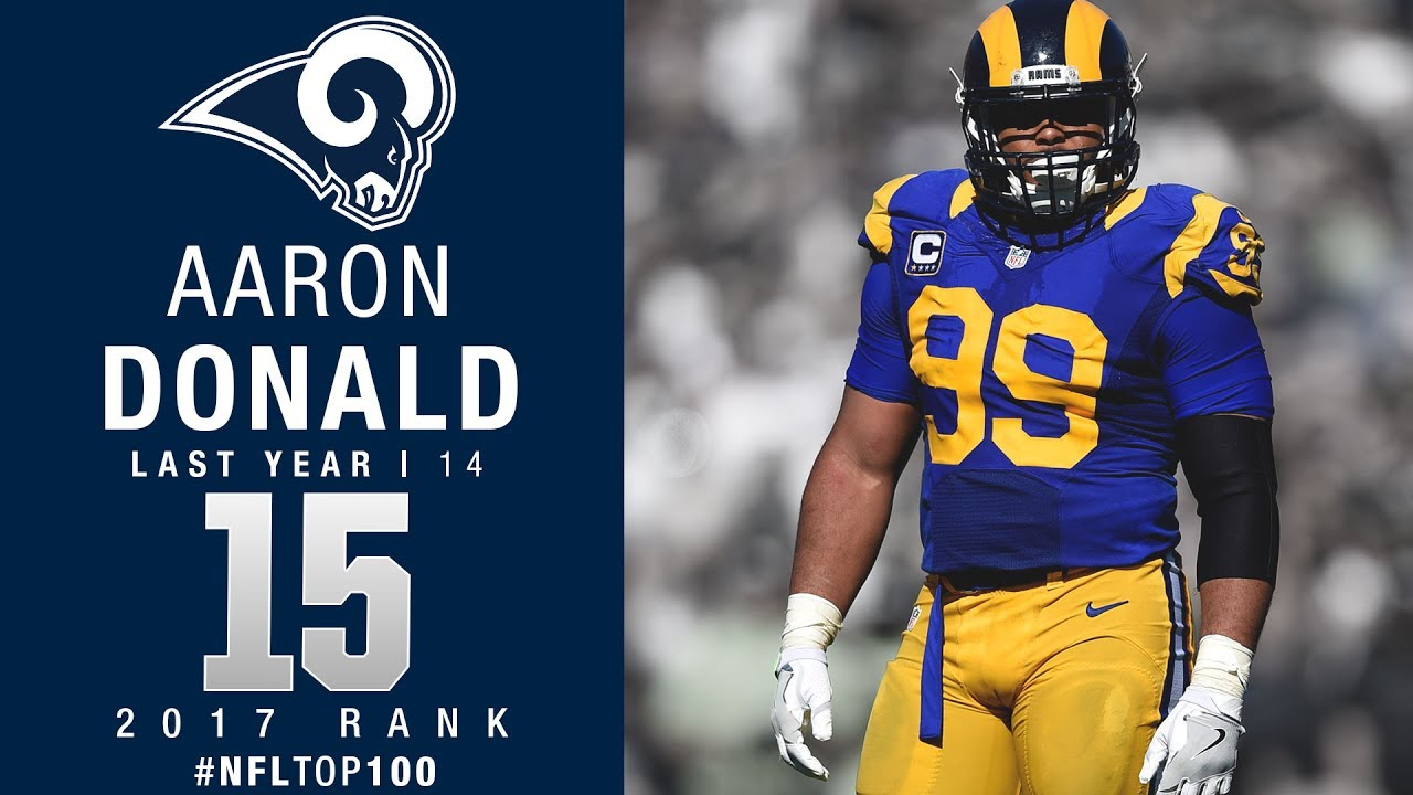 15 Aaron Donald DT Rams Top 100 Players of 2017