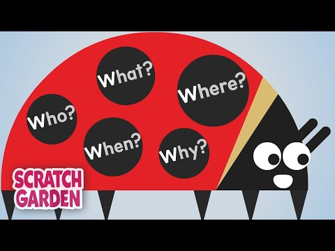 The Five W's Song | English Songs | Scratch Garden