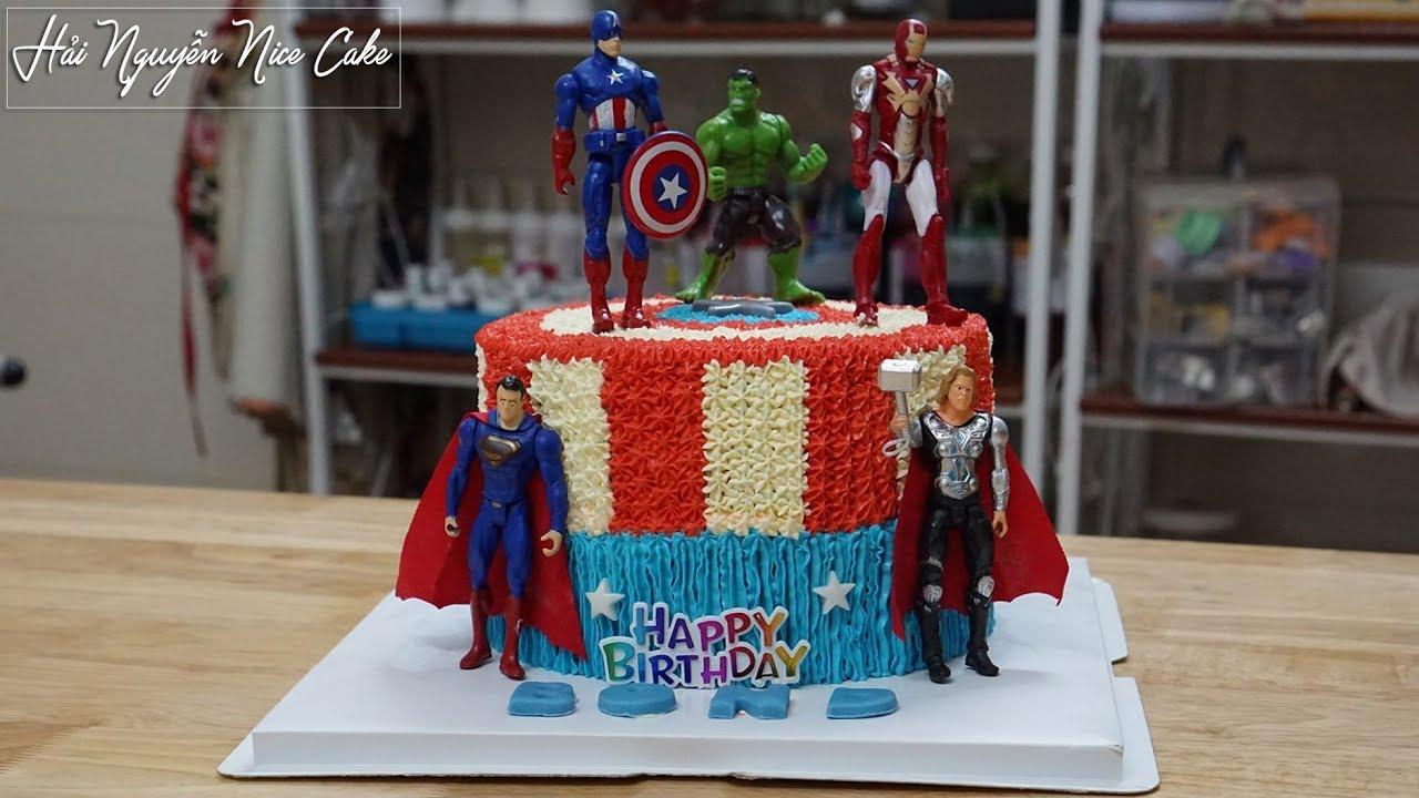 Bánh Sinh Nhật Biệt Đội Siêu Anh Hùng – Decorate Avengers Cake for Kids