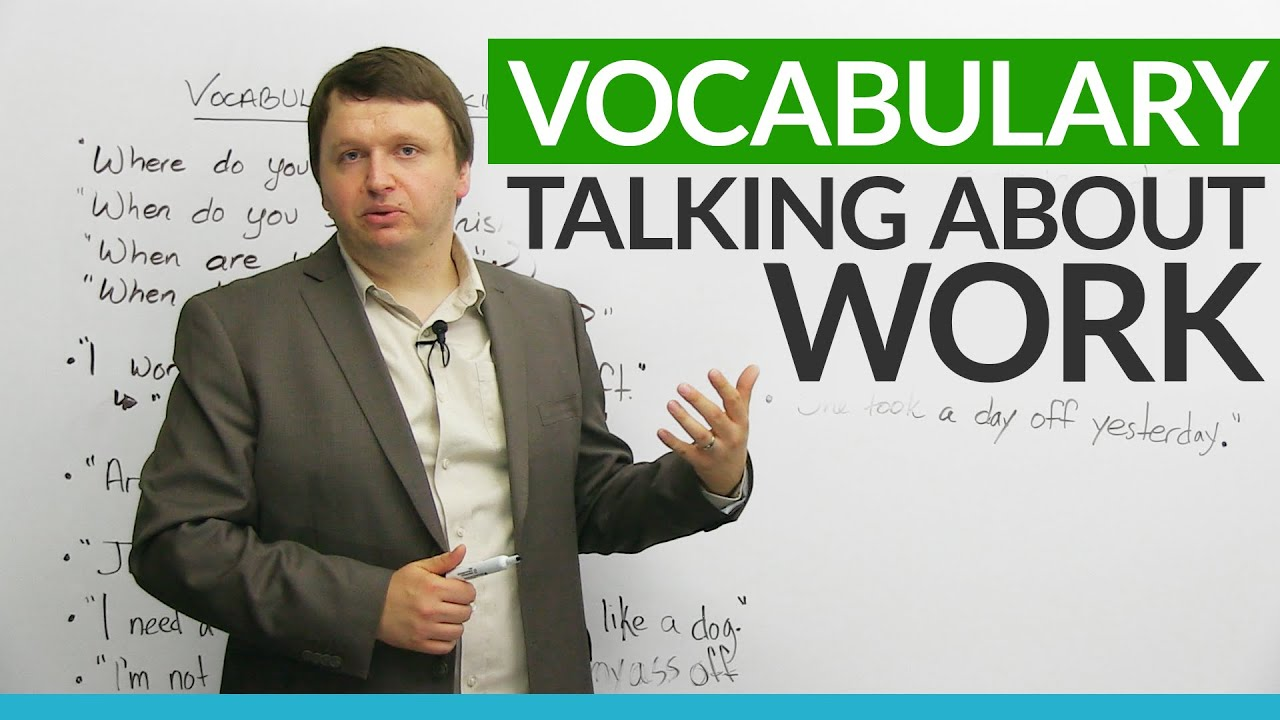English Vocabulary: Talking About WORK   YouTube