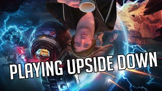 Playing League of Legends upside down