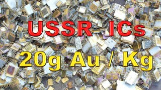 GOLD recovery from USSR ceramic ICs