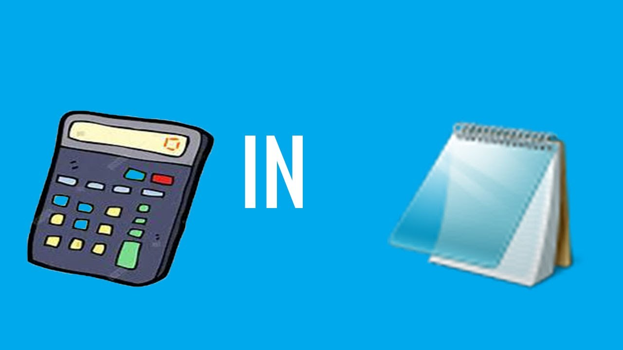 how to make a working calculator in notepad