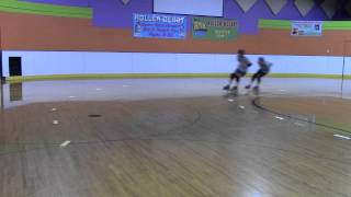 Eastside Derby Girls Practicing Crossovers & Mohawks Roller Skating Roller Derby