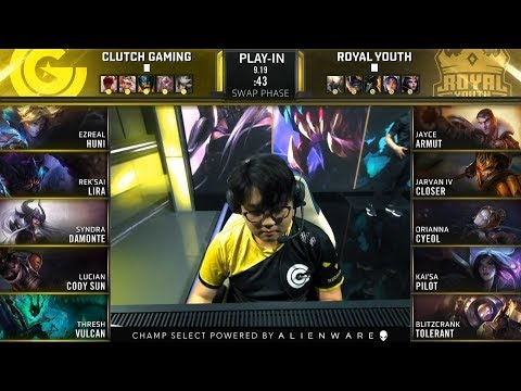 Huni Plays Top Ezreal - CG VS RYL Full Highlights - 2019 Worlds Play-In KO Stage