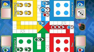 Ludo game in 4 players | Ludo King 4 players | Ludo gameplay #119