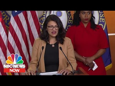 Rep. Rashida Tlaib: Trump's Tweets, Words Part Of 'Racist, Xenophobic Playbook' | NBC News Now