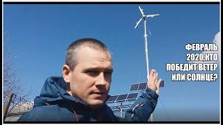 Природные стихии в феврале=электричество=отопление дома,двох винтовой ветрогенератор и много разного