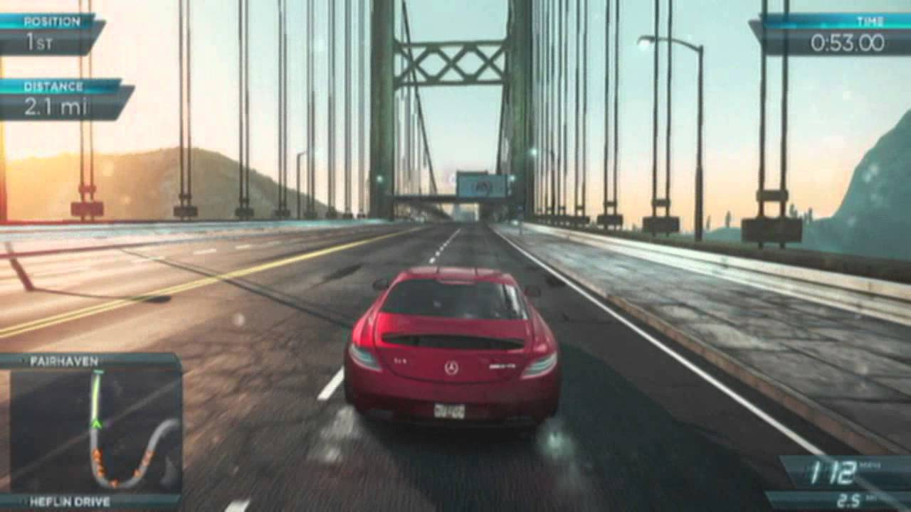 need for speed: most wanted 2 - mercedes-benz sls amg - need for