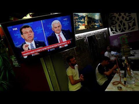 На турецком телевидении прошли дебаты кандидатов в мэры Стамбула…