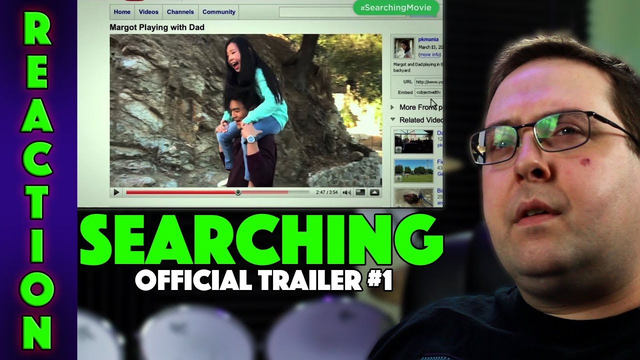reaction searching trailer 1 john cho movie 2018 youtube