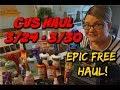 CVS HAUL 3/24 - 3/30 | EPIC FREE HAUL THIS WEEK!
