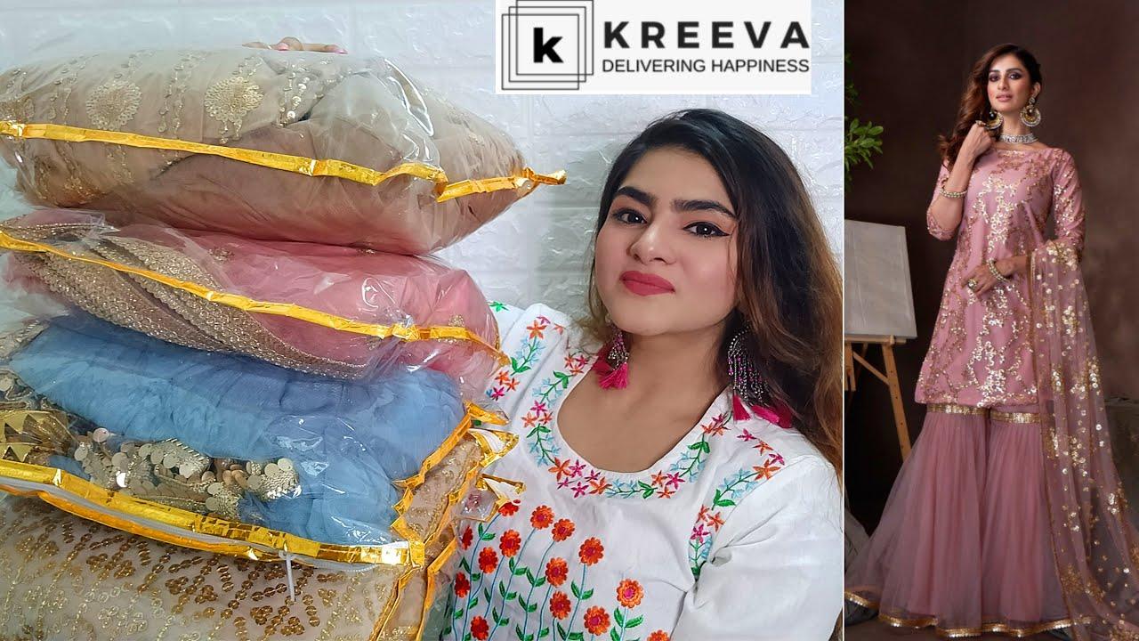 Kreeva-Latest Designer Haul | Designer suits,Lehengas,Sarees | Online shopping review | Ria Das