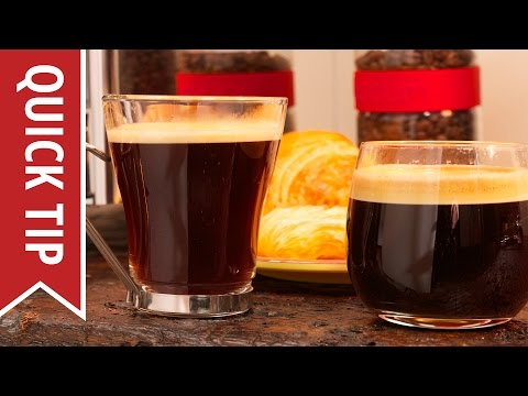 Quick Tip: How to Make an Americano & Caffe Crema