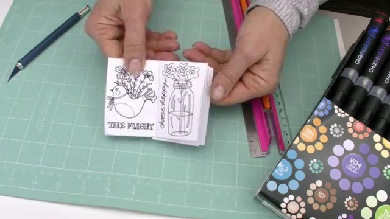 Mini Coloring Book For Valentines - YouTube