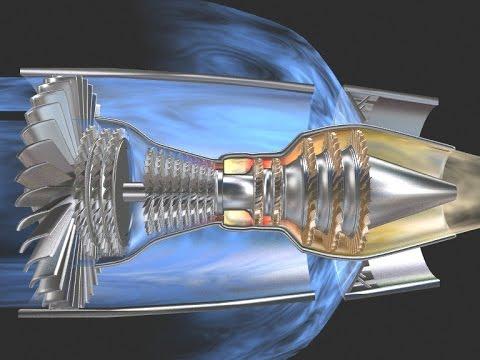 3D Triebwerk mit Schubumkehr Jet Engine Thrust Reverser