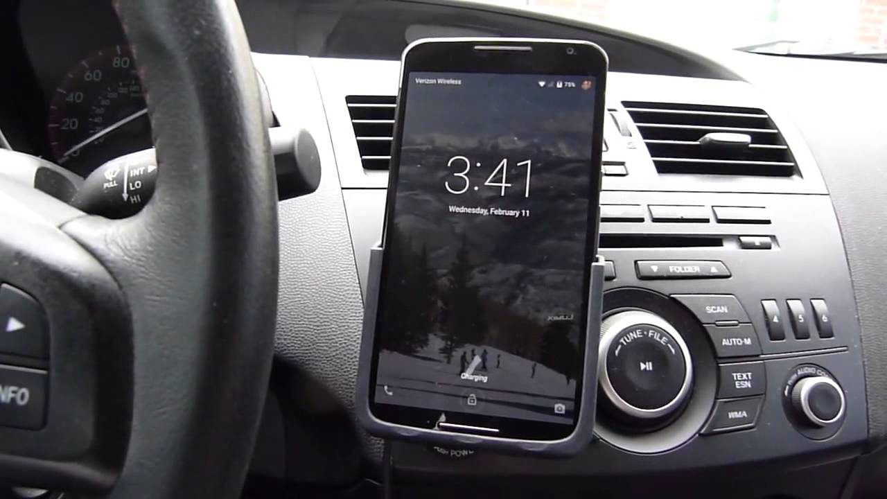 nexus 6 qi car dock - wireless charging - youtube