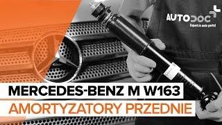 Montaż Amortyzator przednie i tylne MERCEDES-BENZ M-CLASS (W163): darmowe wideo