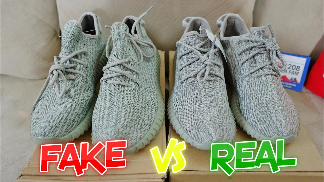 brand new d4424 fd253 ADIDAS YEEZY 350 BOOST REAL VS FAKE