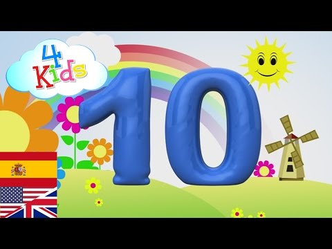 Bilingual Counting Numbers 1-10 english and spanish Learning two languages for children