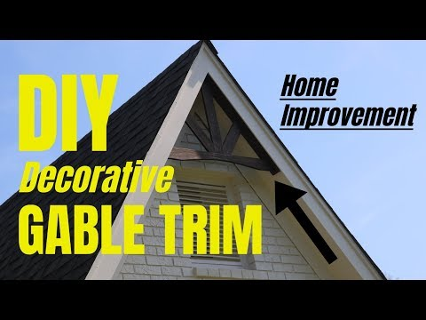 DIY Decorative Gable Trim - Home Improvement