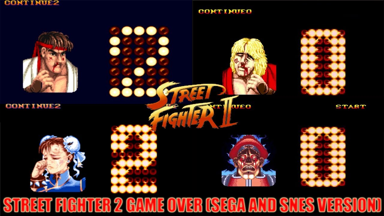 Street fighter 2 game over bored at work game 2