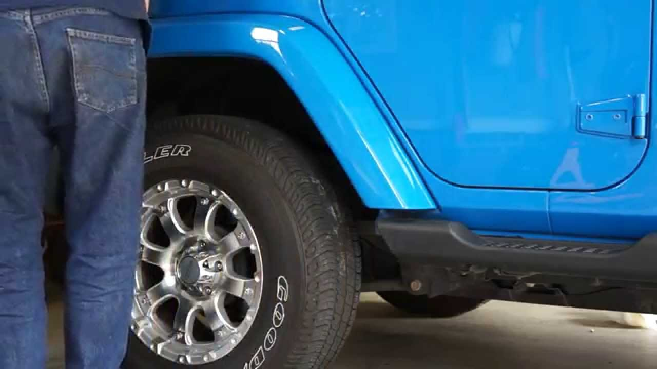 how to change your sport fender flares to sahara color matched - youtube