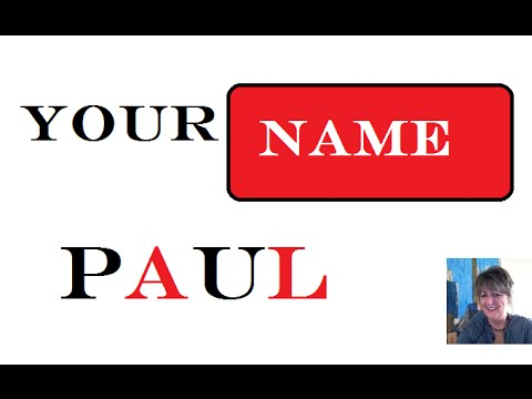 🔍 Paul - 1st Name 🎥 Meaning