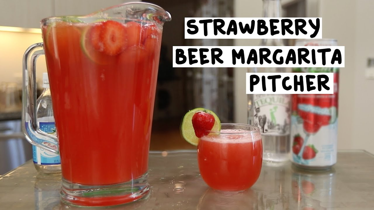 Strawberry Beer Margarita Pitcher - YouTube on pitcher vase, pitcher pump, pitcher plastic, pitcher flowers, pitcher container,